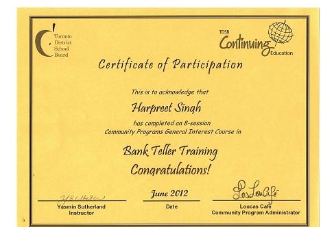 bank teller training
